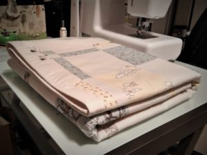 Quilt with Top Stitching