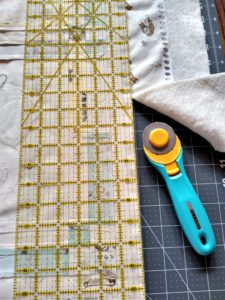 Trimming Edge of Quilt Sandwich