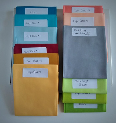 Labeled Fat Quarters