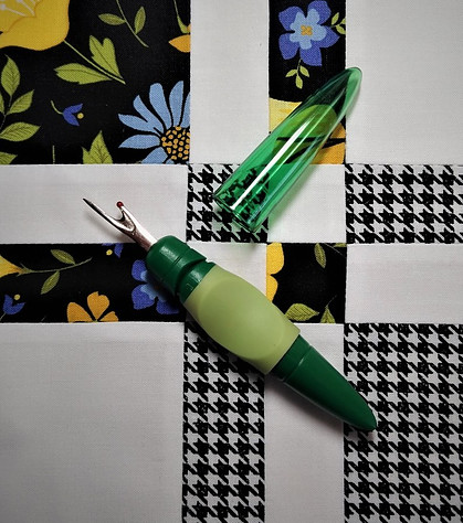 Seam Ripper on Quilt Block