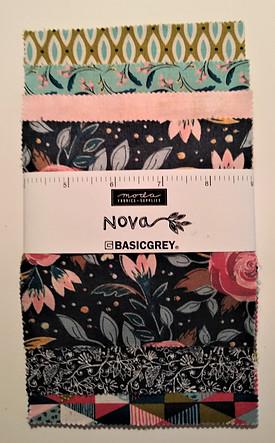 5' Pre-cut Charm Squares - Nova Fabric Line by Basicgrey