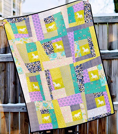 Wonky Log Cabin Quilt - Fav Quilts