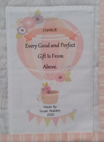 Every Good and Perfect Gift is From above Quilt Label