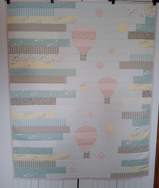 Up In the Air Baby Quilt made by Susan Walden