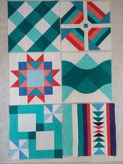 Summer Sampler 2020 Quilt Blocks 1-6