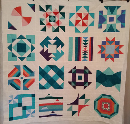 Summer Sampler 2020 quilt top