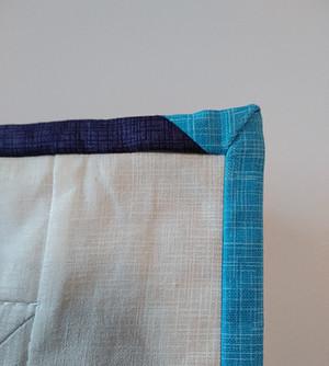 Mitered corner on quilt binding