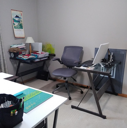 Office side of sewing room