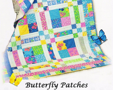 Butterfly Patches quilt pattern by pleasantvalleycreations.com