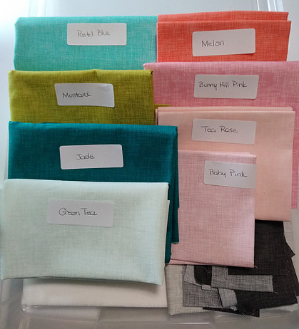 Quilter's Linen by Robert Kaufman ready to be used in Summer Sampler 2021 QAL
