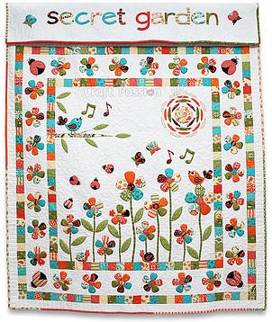 Secret Garden quilt by CraftPassion